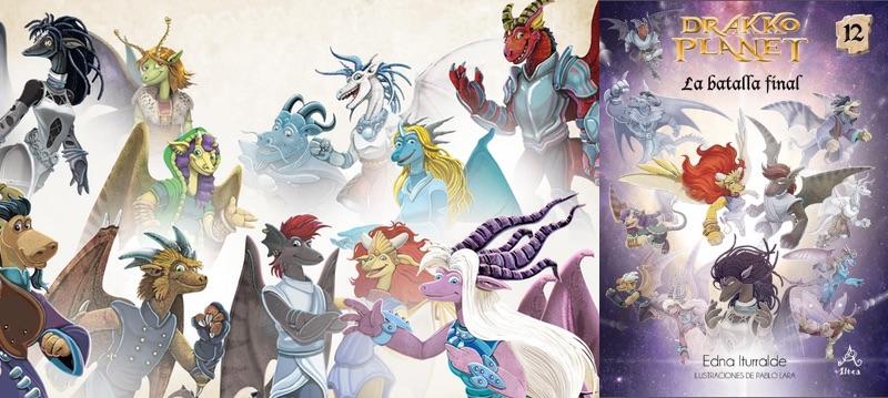 Los Doce de Fuego lograron que los seres buenos de Drakko Planet se unieran a ellos en su lucha contra el mal. Los enanos del reino de Tardón, los nómadas del desierto de Kiir, los gigantes, los duendes rebeldes, los elfos de las praderas, los troles, las hadas y la reina Nurna de la Nueva Atlántida. Así, con un sorprendente final termina la saga aclarando todos los misterios. ¿Dónde estuvo siempre la Perla de la Sabiduría? ¿Quiénes eran en realidad los zuberanos? ¿Y los Doce de Fuego?